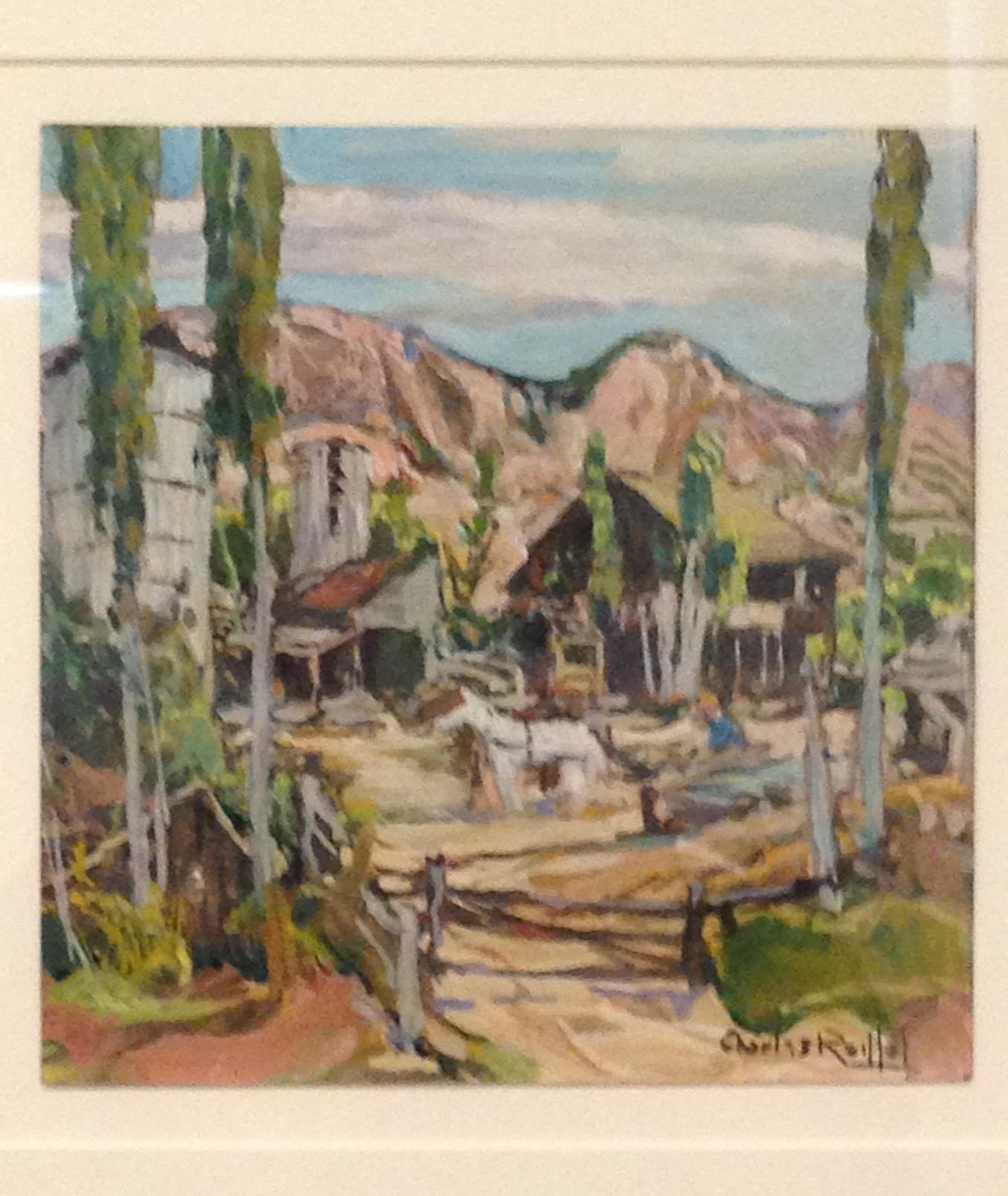 Charles Reiffel, Old Ranch Mission Valley, 1930