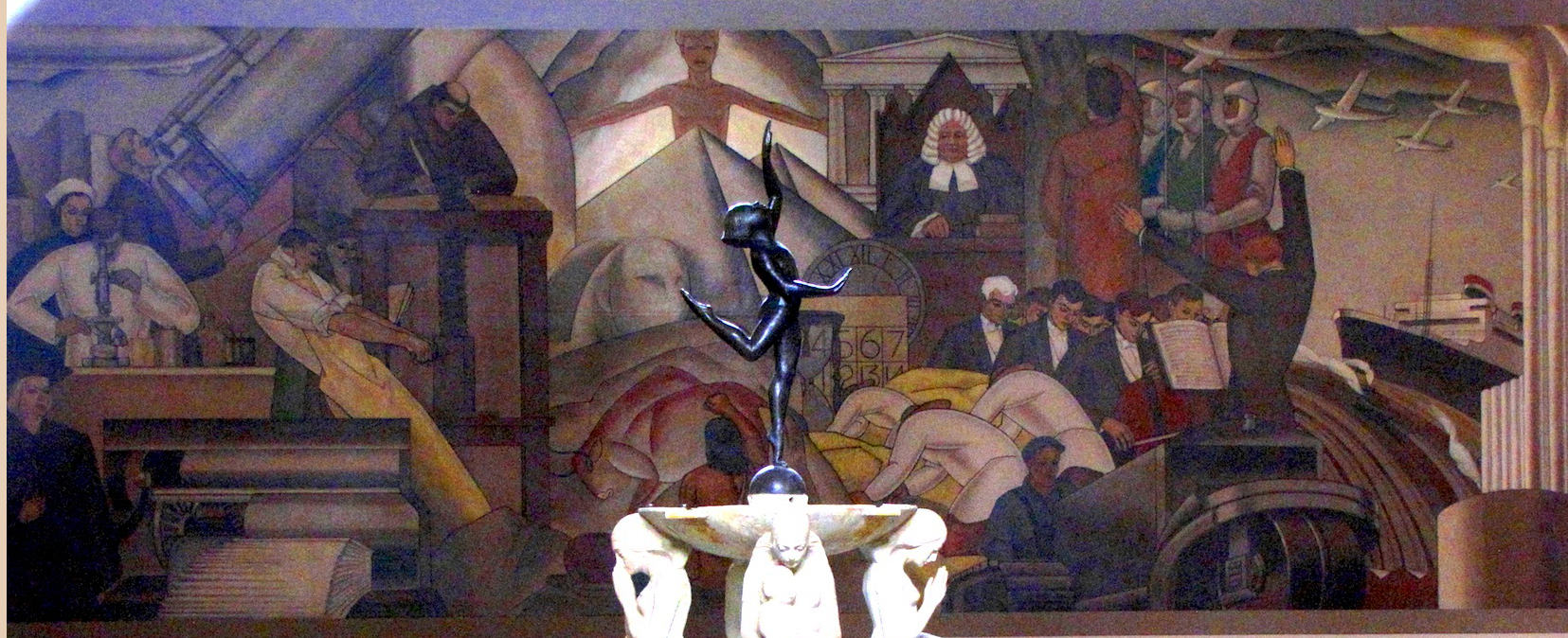 The Progress of Man, 1935, Baranceanu, mural