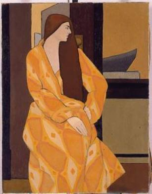 The Yellow Robe, 1927, Oil Painting,,  SDMA Collecton